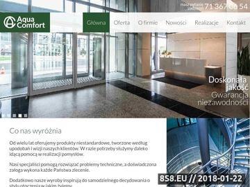 Zrzut strony Aquacomfort - produkcja okuć do szkła