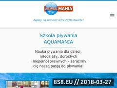 Miniaturka aquamania.lublin.pl (Nauka pływania, aqua fitness oraz ćwiczenia w wodzie)