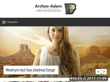 Zrzut strony Archeo-Adam: Firma Archeologiczna