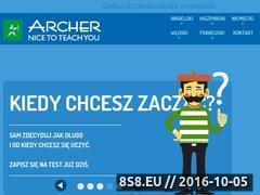 Miniaturka www.archerschool.org (Nauka języków obcych)