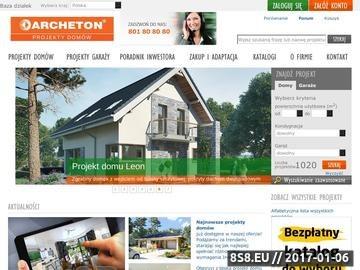 Zrzut strony Projekty domów energooszczędnych i nowoczesnych - Archeton.pl