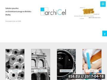 Zrzut strony ArchiCEL.pl - kurs rysunku odręcznego na architekturę