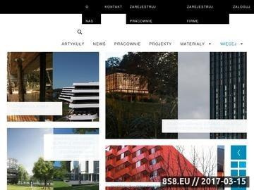 Zrzut strony Artykuły na temat architektury