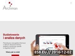 Miniaturka domeny www.archman.pl