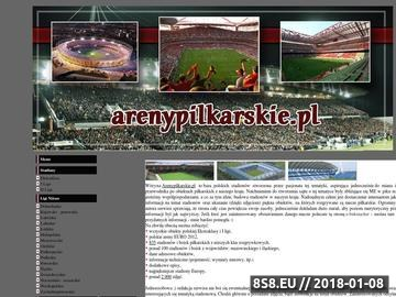 Zrzut strony Arenypilkarskie.pl