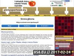 Miniaturka domeny arenysportowe.eu