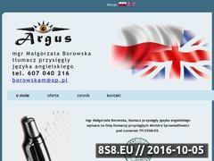 Miniaturka domeny www.argus.czest.pl