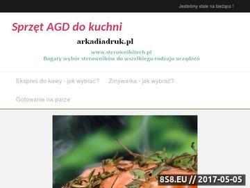 Zrzut strony Usługi reklamowe Arkadia