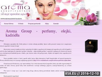 Zrzut strony Aroma Group - perfumy, olejki, kadzidła