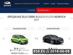 Miniaturka arsen.net.pl (Wypożyczalnia samochodów)
