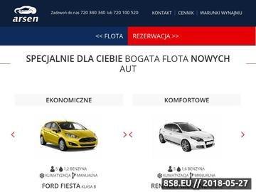 Zrzut strony Wypożyczalnia samochodów