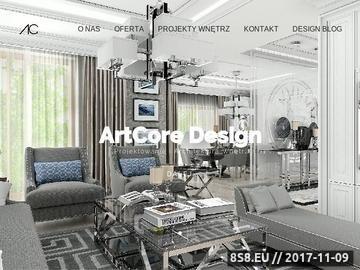 Zrzut strony ArtCore Design - projektowanie wnętrz Kraków