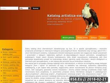 Zrzut strony Projektowanie wnętrz, Aranżacja wnętrz - Artistica-Ewa.pl
