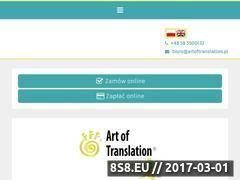 Miniaturka domeny artoftranslation.pl