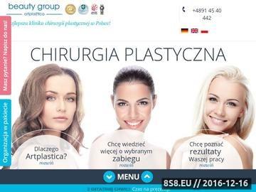 Zrzut strony ARTPLASTICA - Klinika Chirurgii Plastycznej
