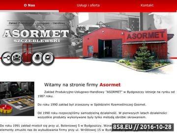 Zrzut strony ASORMET asortyment przemysłowy