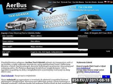 Zrzut strony Taxi Gdańsk