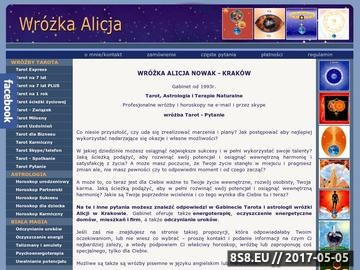 Zrzut strony Wróżka Alicja Nowak - wróżby wróżenie tarot karty tarota horoskop