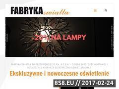 Miniaturka domeny www.at-fabrykaswiatla.pl