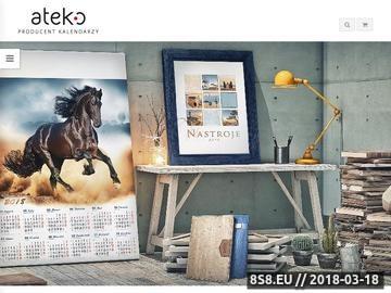 Zrzut strony Kalendarze, Producent kalendarzy ATEKO - oferta kalendarzy