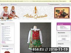 Miniaturka www.atelierquaranta.pl (Kostiumy karnawałowe: produkujemy kostiumy)