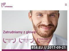 Miniaturka www.aterima.pl (Nowoczesne rozwiązania kadrowo-płacowe)