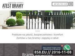 Miniaturka domeny www.atest-bramy.pl