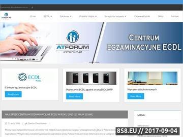 Zrzut strony Szkolenia informatyczne oraz zawodowe - ATForum