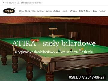 Zrzut strony Stoły bilardowe, dart - Atika.com.pl