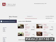 Miniaturka domeny www.atrium.nieruchomosci.pl