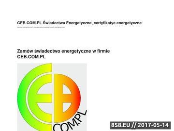 Zrzut strony Audytorzy energetyczni, świadectwa energetyczne, baza szkoleń