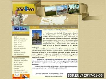 Zrzut strony Biuro Podróży Aurora - wycieczki szkolne, firmowe, zakladowe i pielgrzymki