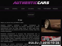 Miniaturka domeny authenticcars.pl