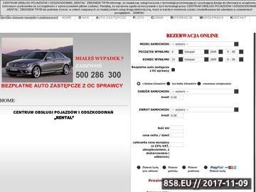 Zrzut strony Auta zastępcze Speed
