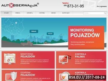 Zrzut strony Autobserwacja.pl - Monitorowanie pojazdów