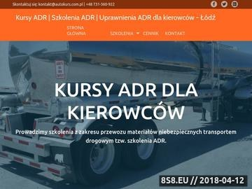 Zrzut strony Szkolenia ADR dla kierowców