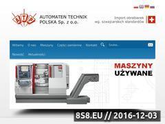 Miniaturka automaten-technik.pl (Automaty tokarskie i częsći do tokarek)