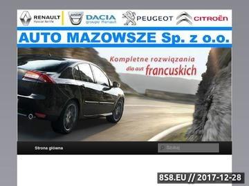 Zrzut strony Serwis aut francuskich, części Citroen, Renault, Peugeot - AutoMazowsze.pl