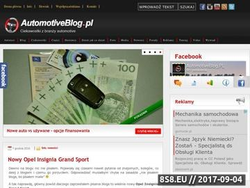 Zrzut strony AutomotiveBlog.PL - blog motoryzacyjny