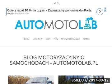 Zrzut strony Blog motoryzacyjny