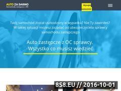 Miniaturka autozadarmo.pl (Informacje na temat wynajmu auta z OC sprawcy)
