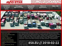 Miniaturka www.avio-star.pl (Transport HDS, wynajem HDS - HDS Warszawa oraz usługi)