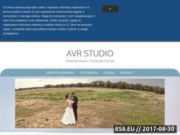 Zrzut strony Wideofilmowanie i Fotografia Ślubna | Avr Studio Poznań