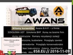 Miniaturka Kursy na wózki widłowe, podesty, suwnice oraz BHP (www.awans-bhp.com)