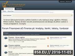 Miniaturka www.az-finanse.pl (Finanse - forum)