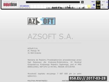 Zrzut strony AZSoft Call Center