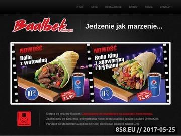 Zrzut strony Restauracja Kebab Bydgoszcz - Baalbek Orient Grill