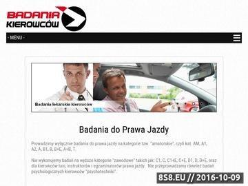 Zrzut strony Badania kierowców Warszawa