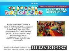 Miniaturka domeny www.bajkoland-przedszkole.pl