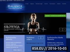 Miniaturka www.balancefitness.pl (Aqua fitness, aqua aerobic, siłownia i basen)